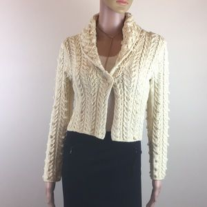 Adorable City DKNY cropped cable knit cardigan S